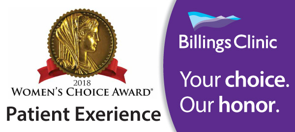 Billings Clinic awarded Women's Choice Award for Patient Experience
